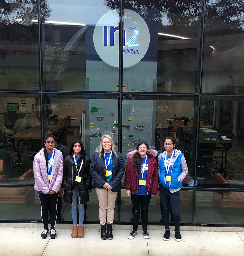 STEM Partnership School eighth graders participated in IMSA's Great Water Challenge